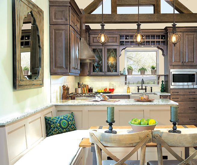 Gorgeous dark wood cabinets by #Wellborn, brought to you by Builders ...