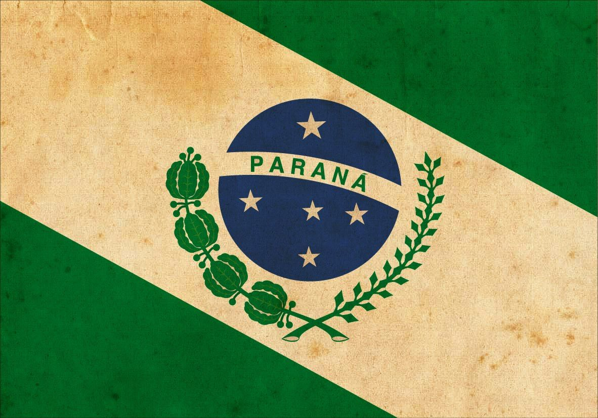 Flag Of The State Of Parana Bandeira Nacional Do Brasil Parana