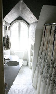 Linden Ave. home renovation eclectic bathroom