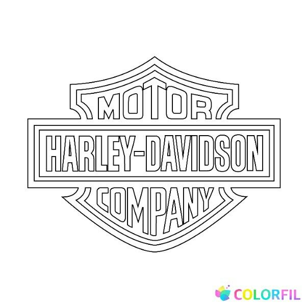 - Pin By Denna Simon On Coloring Pages Harley Davidson Logo, Harley Davidson,  Harley Davidson Posters