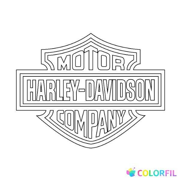 Pin By Jennifer Loveland On Coloring Pages Harley Davidson Logo, Harley, Harley  Davidson