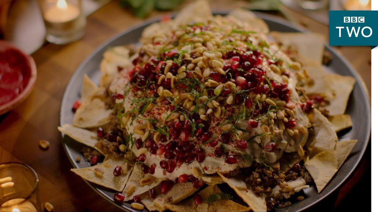Beef and aubergine fatteh nigella at my table episode 2 bbc beef and aubergine fatteh nigella at my table episode 2 bbc two forumfinder Choice Image