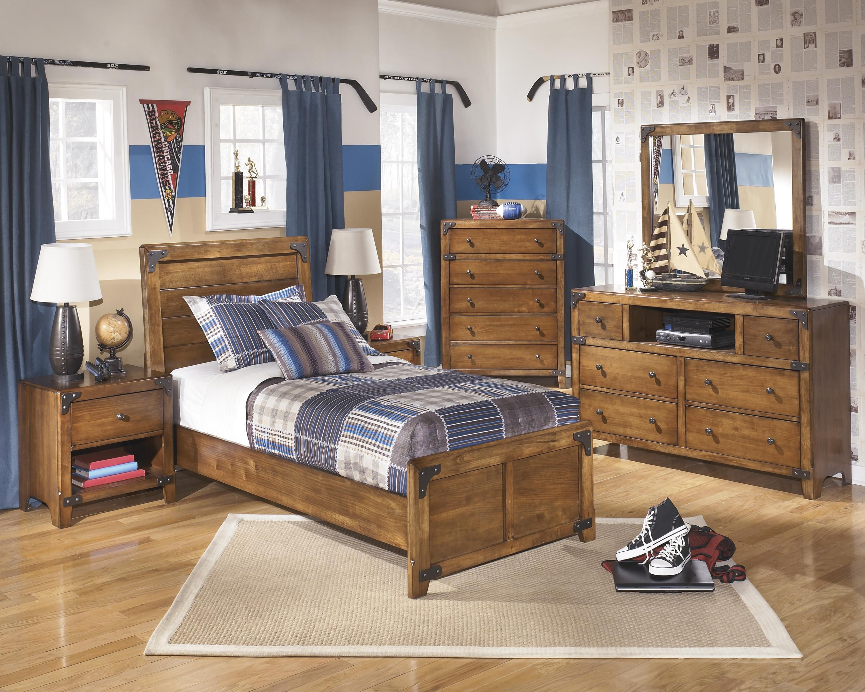 Delburne Twin Bedroom Groupsignature Designashley  Kids Alluring Twin Bedroom Sets Design Inspiration