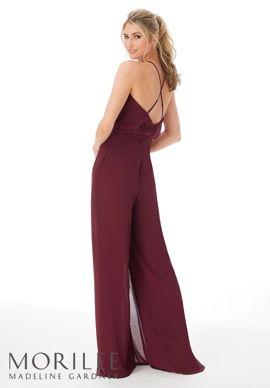 Chiffon Bridesmaid Jumpsuit, Style 21690