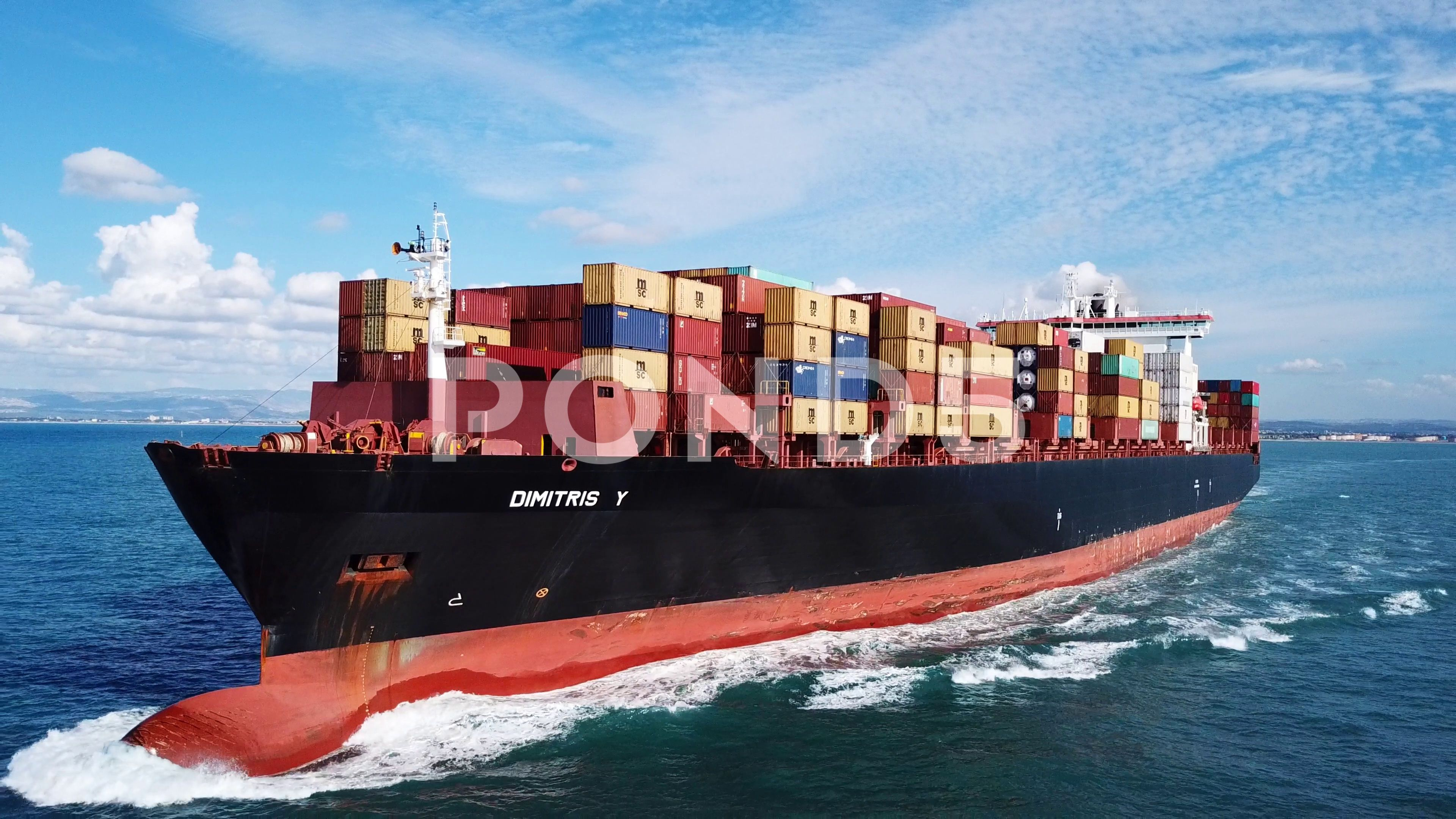 Large Container Ship At Sea Aerial Footage Stock Footage Ad Ship Sea Large Container In 2020 Aerial Images Vessel Aerial