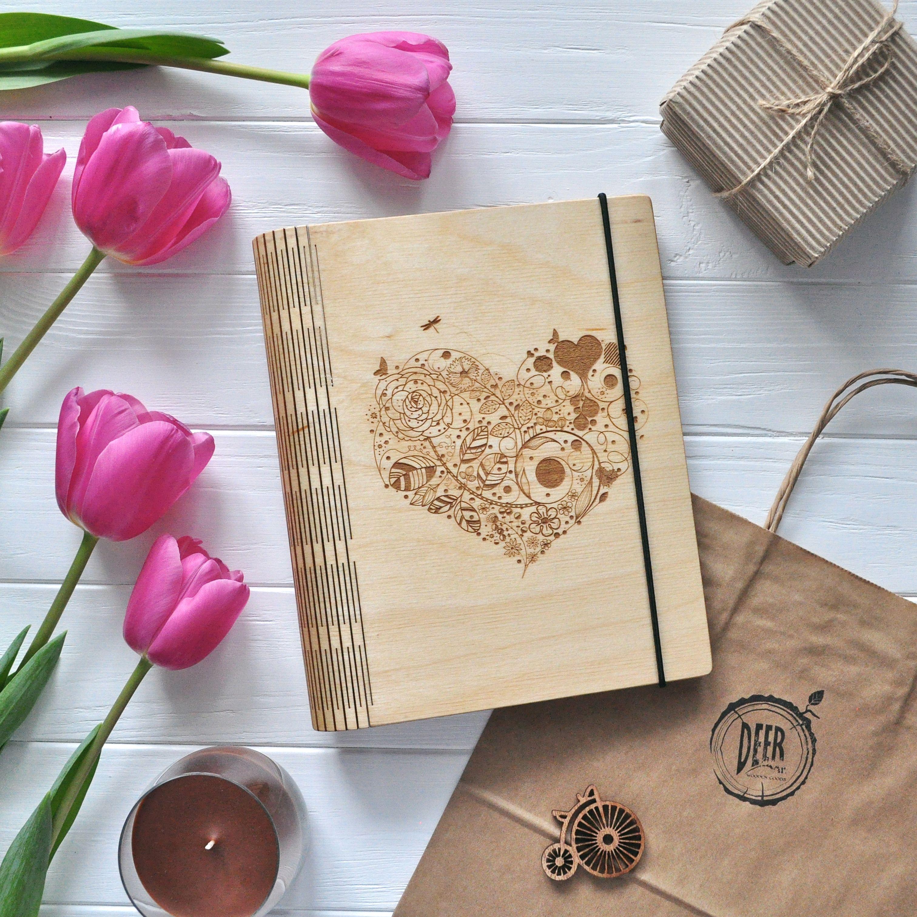 widescreen diy wedding journal of mobile phones hd pics heart wooden notebook binder blank wood guestbook custom