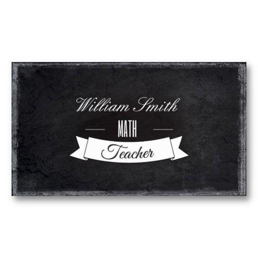Math teacher business card teacher business cards math and teacher math teacher business card reheart Image collections