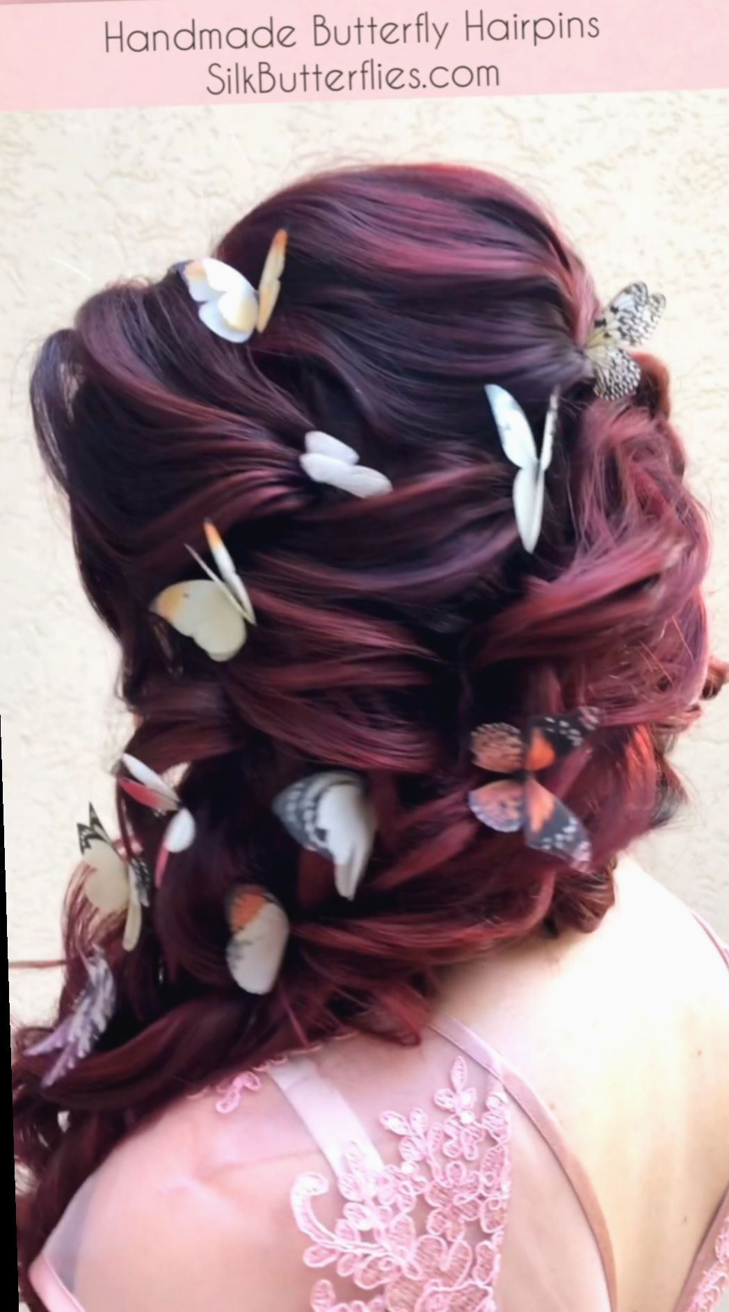 12 Hairstyles Prom Videos Pretty In 2020 Hair Styles Butterfly Hair Clip Butterfly Hair