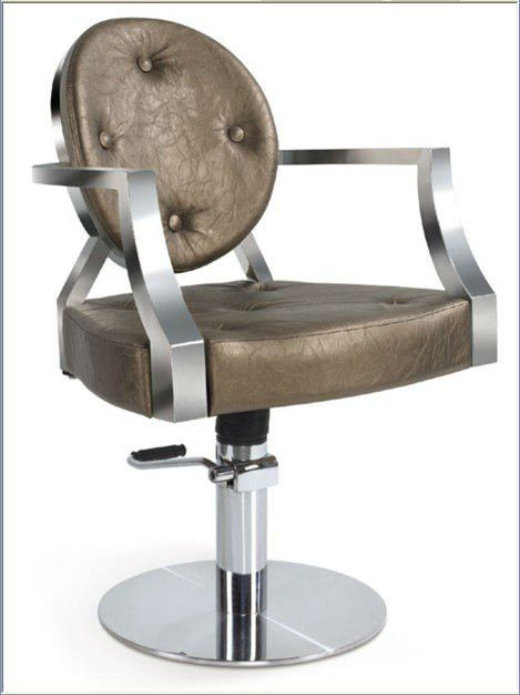 Gold Copper Styling Chair W Stainless Steel Arms And Base Hair Salon Furniture Salon Furniture Barber Chair
