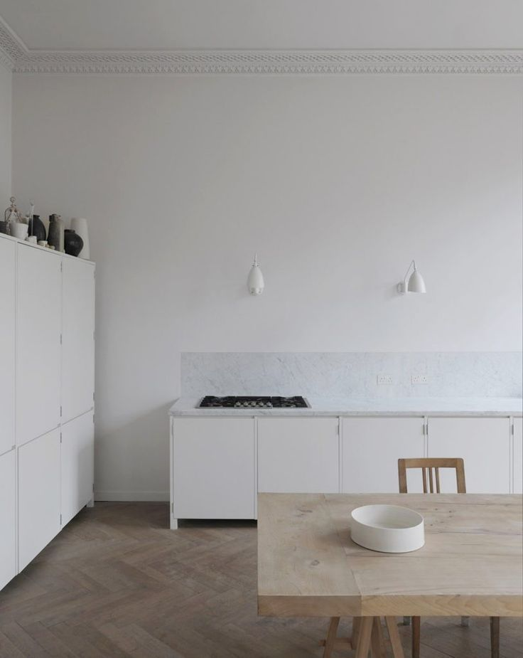 Kitchen inspiration with marble and wood - Hege in France #minimalkitchen