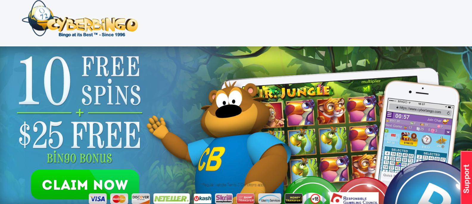 This great real money bingo and slot bonus is good for