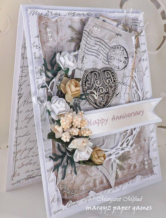 Margyz Paper Games A Correspondence Anniversary Card Anniversary Cards Correspondence Cards Cards Handmade