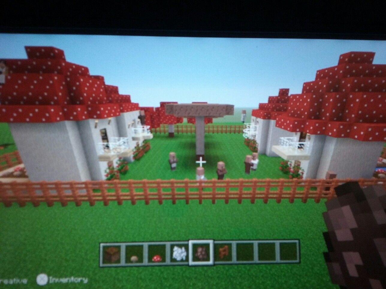 So much fun designing a little mushroom village for villagers!