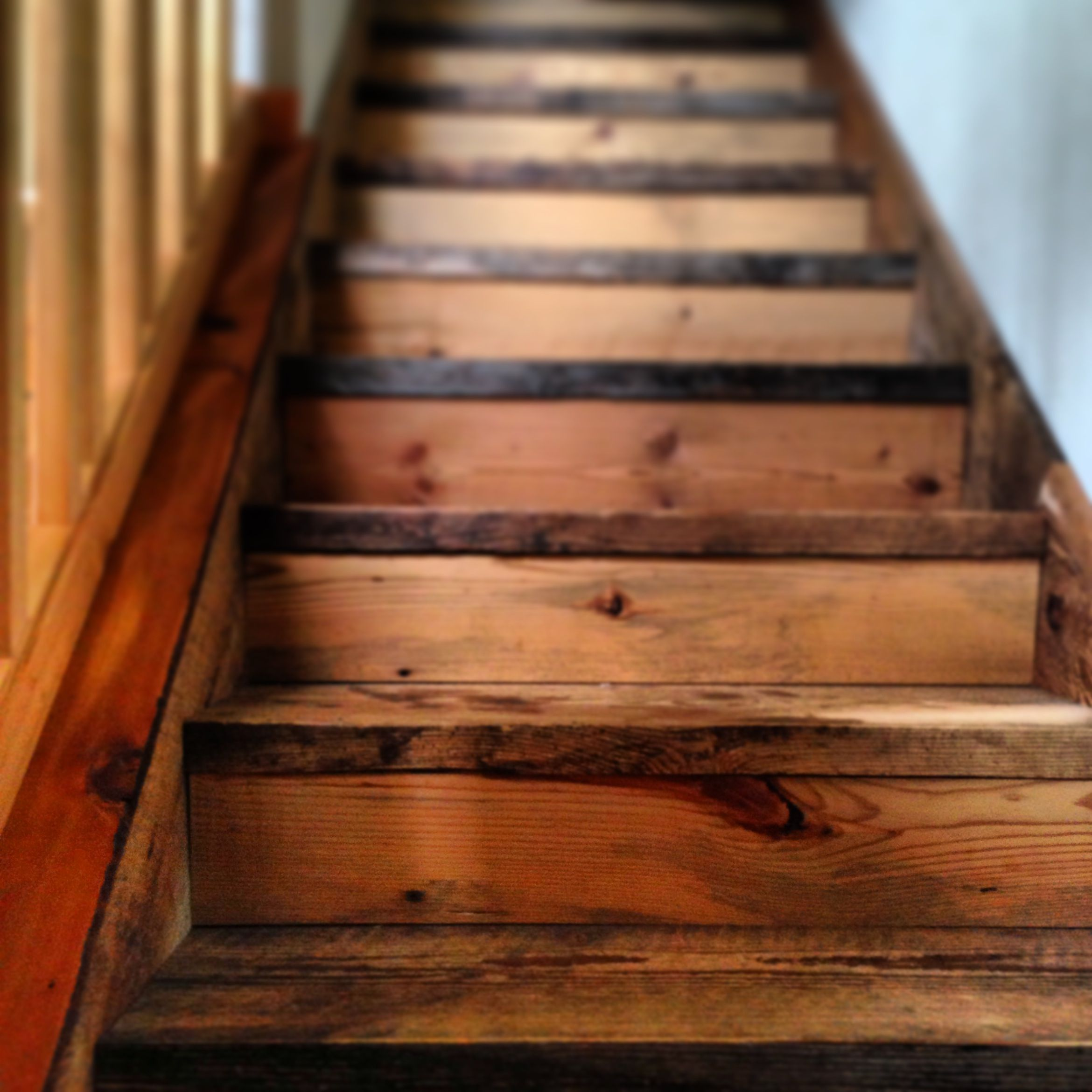 Barn wood stairs want this interior design pinterest