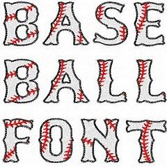 Free Baseball Font Downloads Machine Embroidery Patterns Embroidery Fonts Machine Embroidery Designs