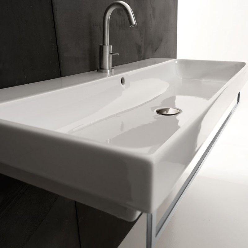 Waschbecken Normal Wandmontage 100cm Design Home Decor Sink