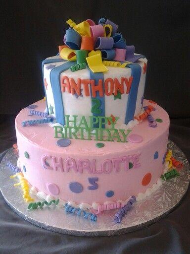 Siblings Birthday Cake Kids Birthday Cake Birthdays Birthday