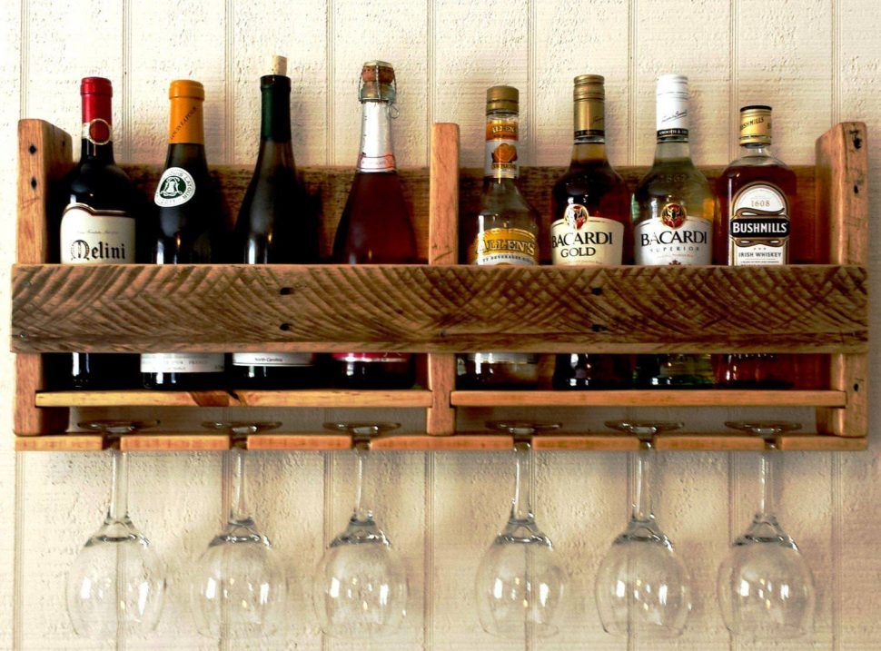 Diy Wine Glass Rack Wood Holder Brint Co Wall Hanging Plans