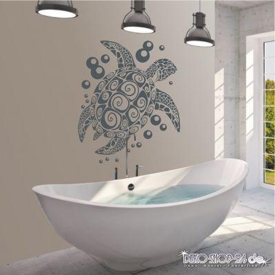 deko-shop-24de-Wandtattoo-Schildkröte Badezimmer Pinterest - wandtattoos für badezimmer