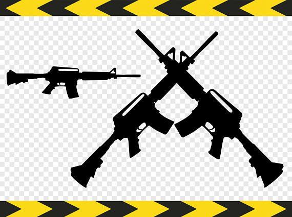 ARMY Punisher Skull US Flag Crossed AR15 Guns Car or Truck Window Decal Sticker