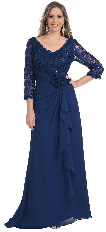 Long mother of the bride dress mobmog dresses pinterest