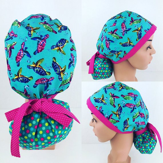 Ponytail Surgical Scrub Hats Scrub Hats For Women Medical Hats