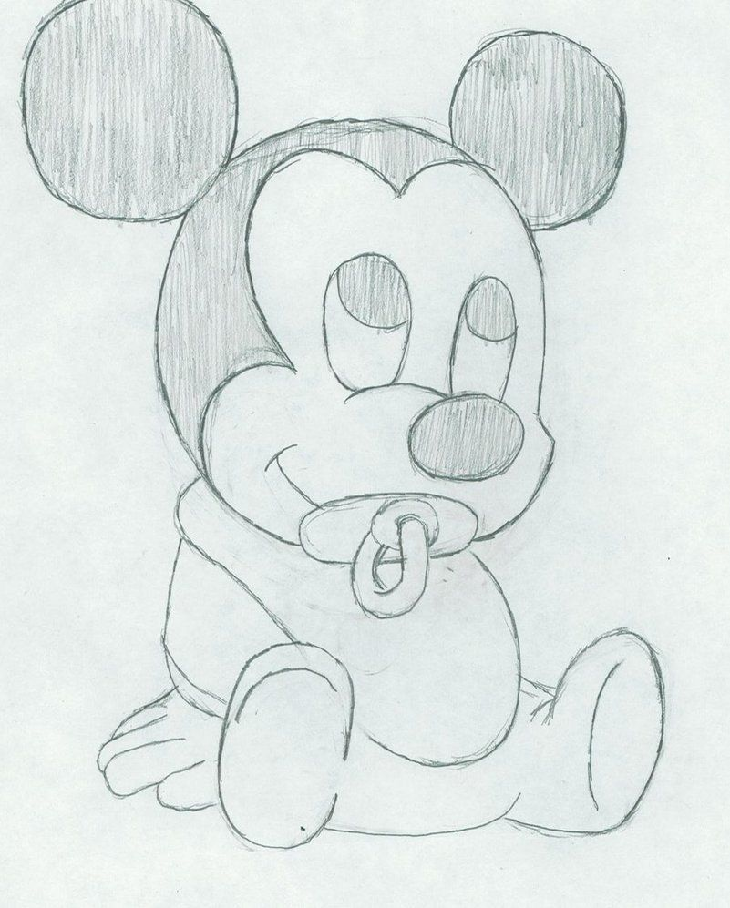 Micky Mouse Cartoon Drawing  Baby Mickey Mouse By Tobiuchiha21 On  Deviantart