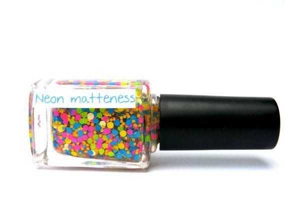 Glitter nagellak  Neon Matteness | Etsy