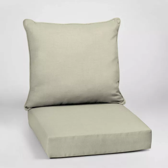 Leala Texture Deep Seat Outdoor Cushion Set Arden Selections In 2020 Deep Seating Patio Cushions Outdoor Cushions