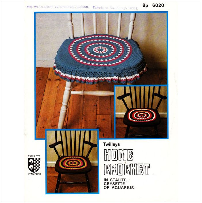 6020 Twilleys Crochet Pattern Crochet Chair Seat Cushions
