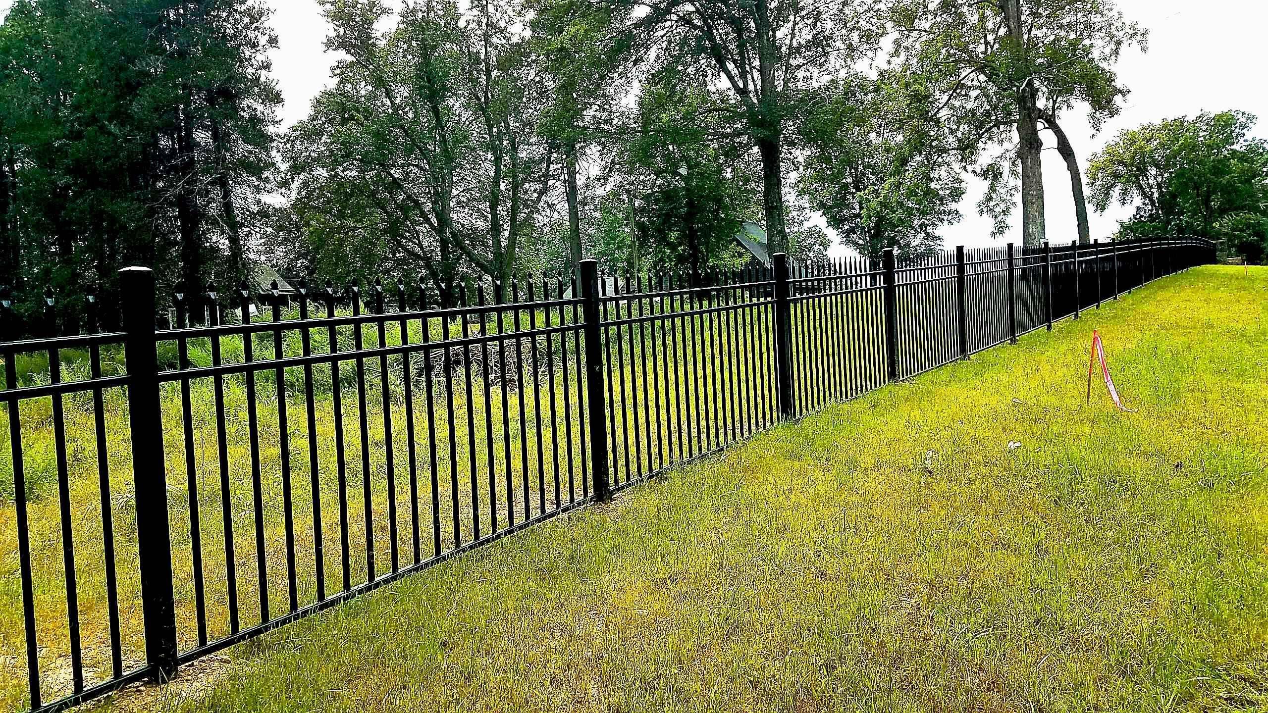 3 Rail Belmont Style Aluminum Fencing Aluminum Fence Aluminum