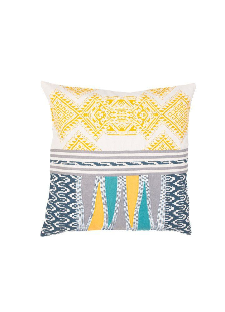 Traditions Made Pillow in Birch & Golden Rod design by Jaipur