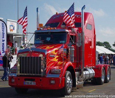 plus beau camion americain google search the most beautiful trucks pinterest rouge. Black Bedroom Furniture Sets. Home Design Ideas