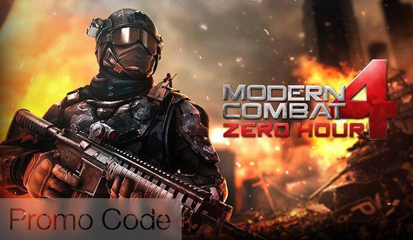 How To Get Modern Combat 4 Zero Hour Free Promo Code Free Promo Codes Coding Promo Codes