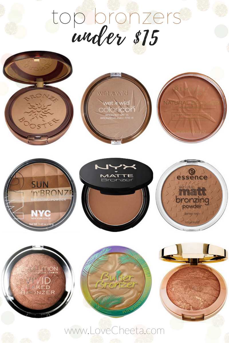 Top Bronzers Under 15 Lovecheeta Summer Makeup Tan Bronzed Tanned Makeup Summer Glow Makeup Summer Makeup