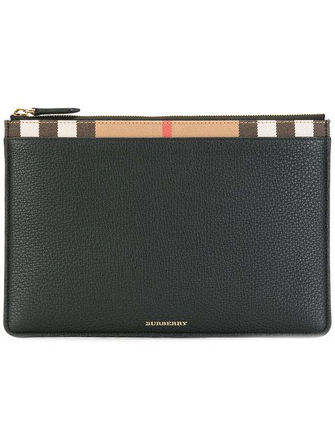 b4abc2d739a1 BURBERRY House Check Clutch Bag.  burberry  bags  leather  clutch  cotton   hand bags