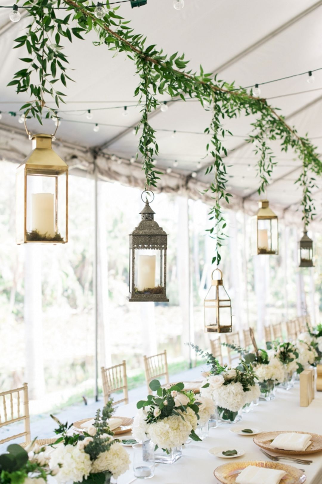 45+ Awesome Lantern Greenery Wedding Centerpiece Ideas | Greenery ...