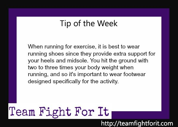 when running for exercise, it is best to wear running shoes since they provide extra support for your heels and midsole. you hit the ground wit tow to three times your body weight when running, and so it;s important to wear footwear designed specifically for the activity.