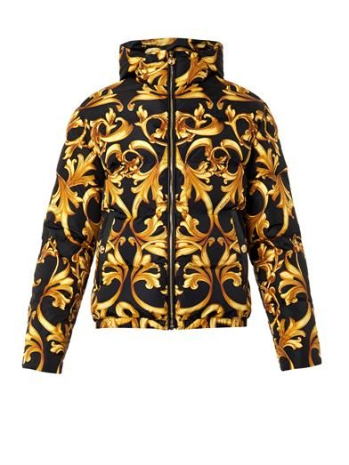Barocco Print Quilted Matchesfashion Down JacketVersace 8PkwX0nO