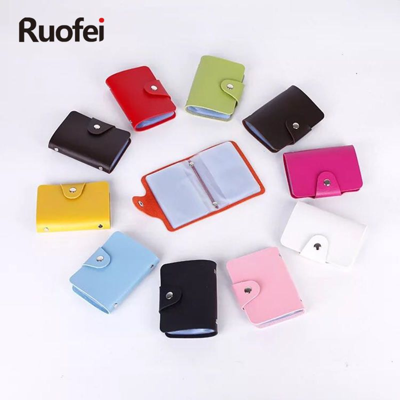 RUO FEI 12 bit new Men\'s Women Leather Credit Card Holder / Case ...