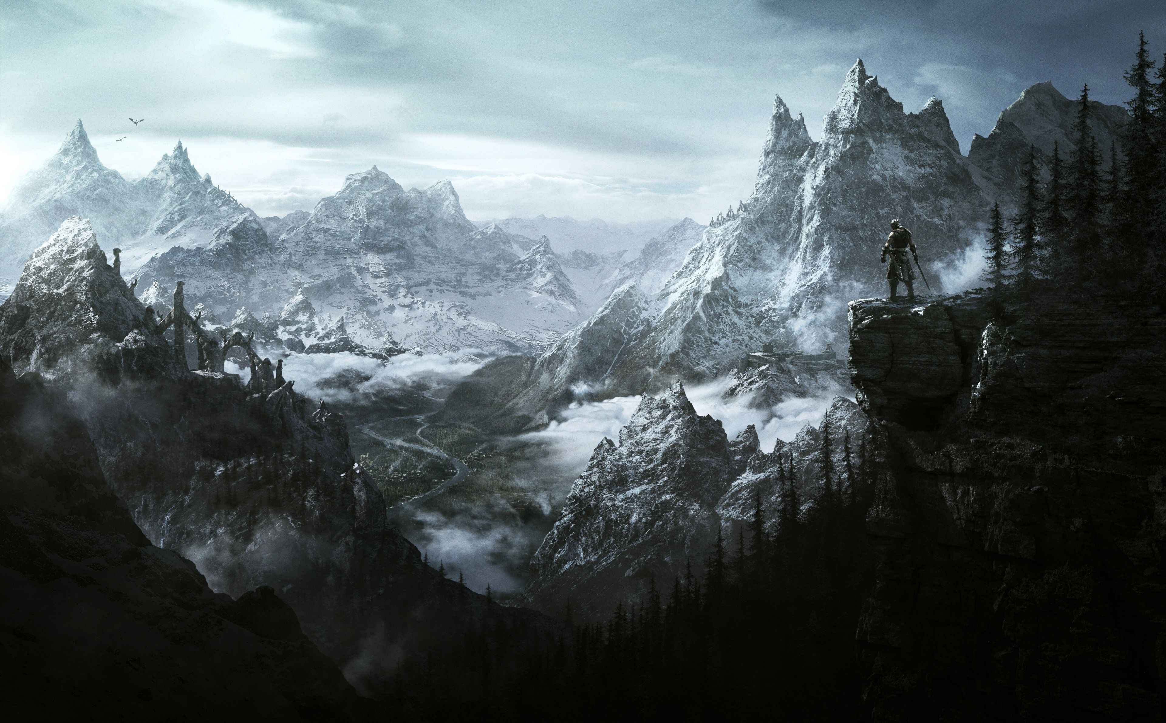 3840x2381 Skyrim 4k Hd Computer Wallpaper Widescreen Skyrim Wallpaper Skyrim Art Elder Scrolls V Skyrim