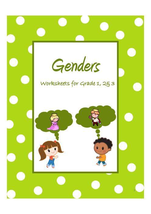 Genders Of Nouns Worksheets For Grade Singular And Plural 1st Grade Worksheets Plurals Worksheets