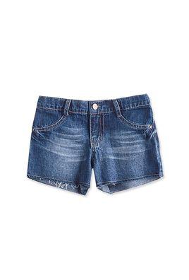 Shorts Jeans Infantil Menina Com Barra Desfiada