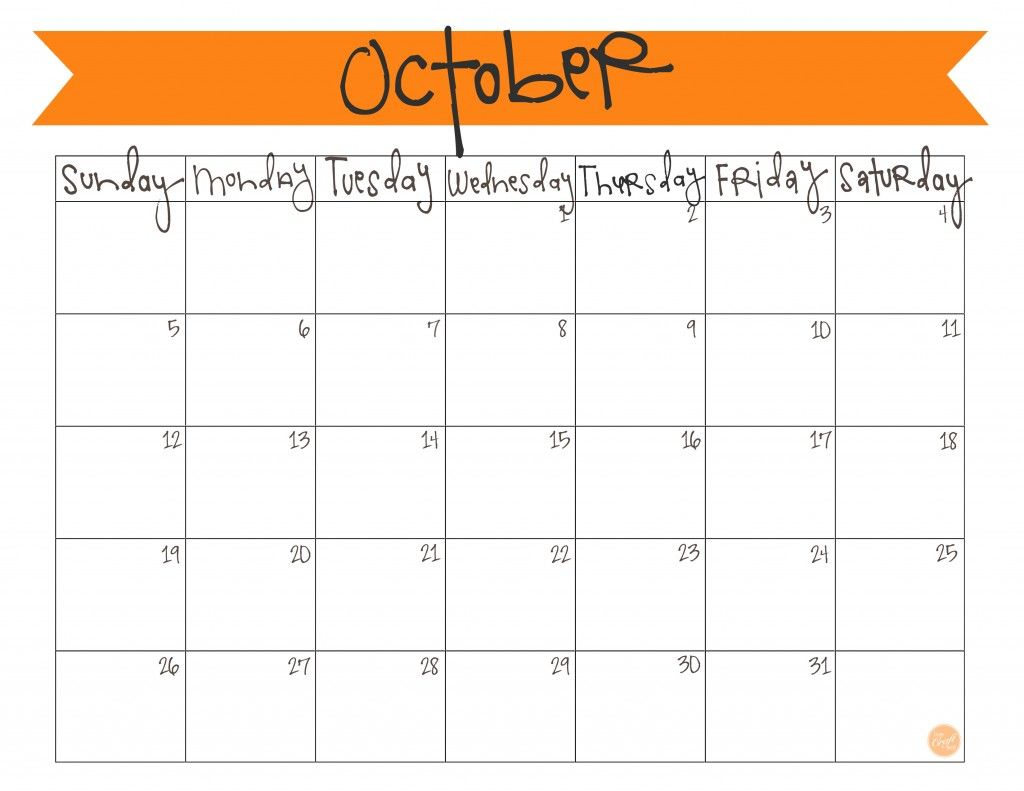 October 2017 Calendar Cute Printable Template With Holidays Free