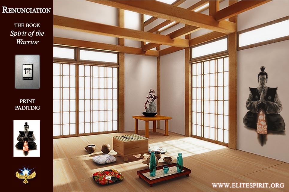 Purity Meditation Buddha Bushido Samurai Interior Art ...