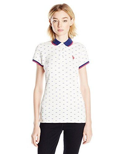 U.S. Polo Assn. Junior s 3 Diamond Dot Print Stretch Pique Polo Shirt  a79fa8ee460a5