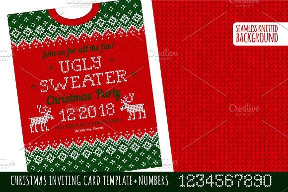 Ugly Sweater РҐ-mas Party Invite GR Invitation Templates