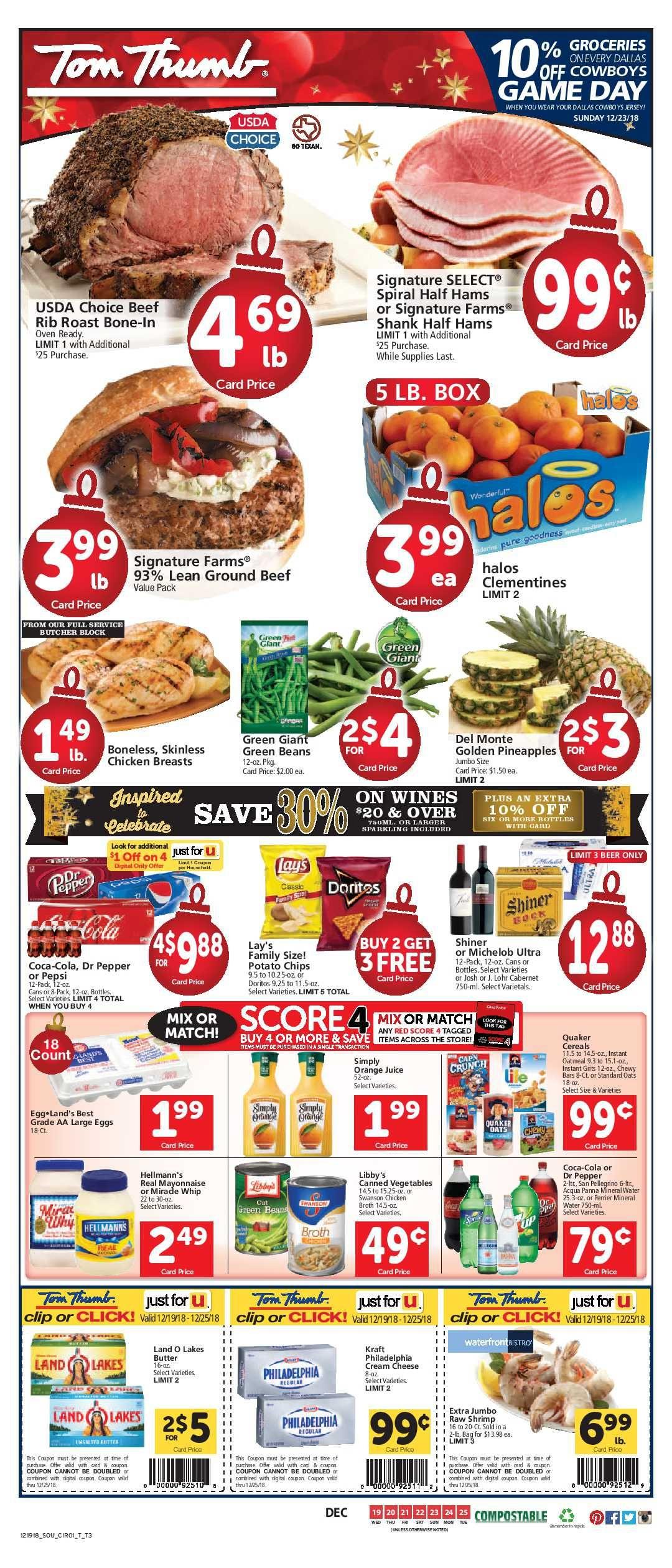 Tom Thumb Weekly Ad Flyer 03/11/20 03/17/20