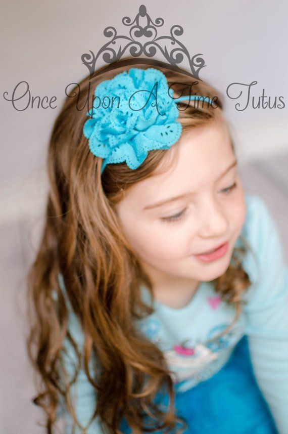 Brown and Turquoise Blue Floral Headband