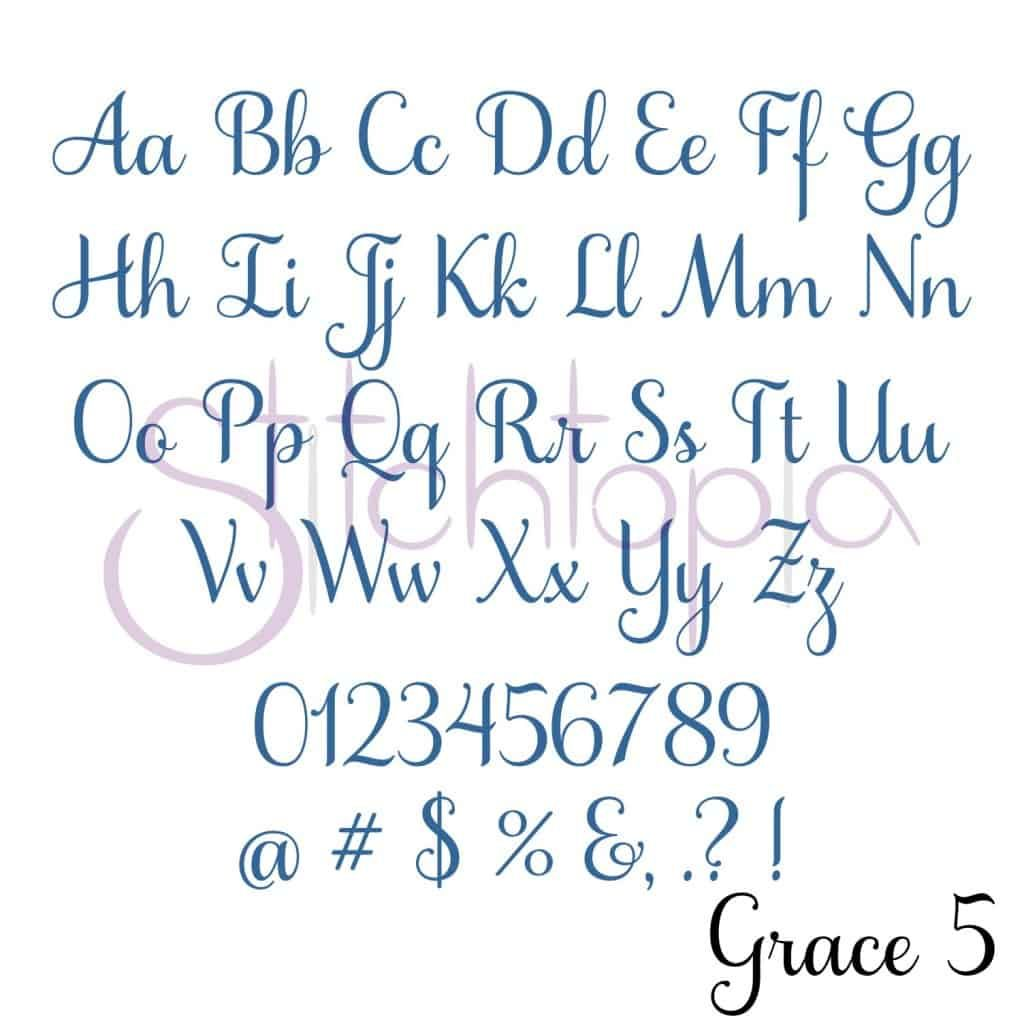 Grace Embroidery Font Bundle 1 6